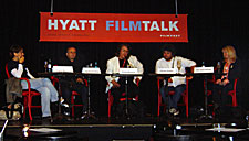 Participants at one of the 2005 Hyatt Filmtalks. (Photo by Becky Tan)